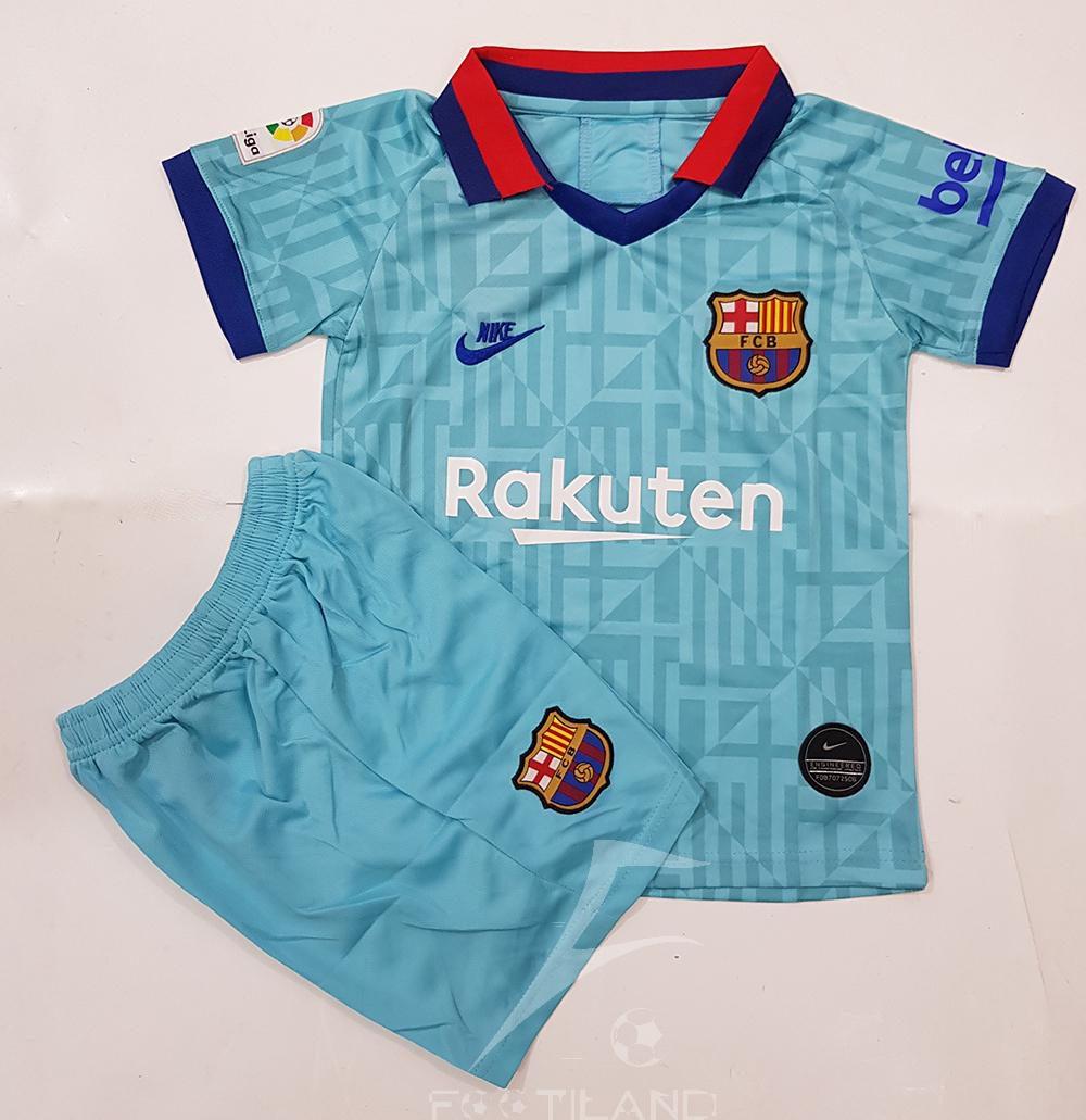 دست لباس پیراهن شورت بچه گانه بارسلونا سوم پسرانه