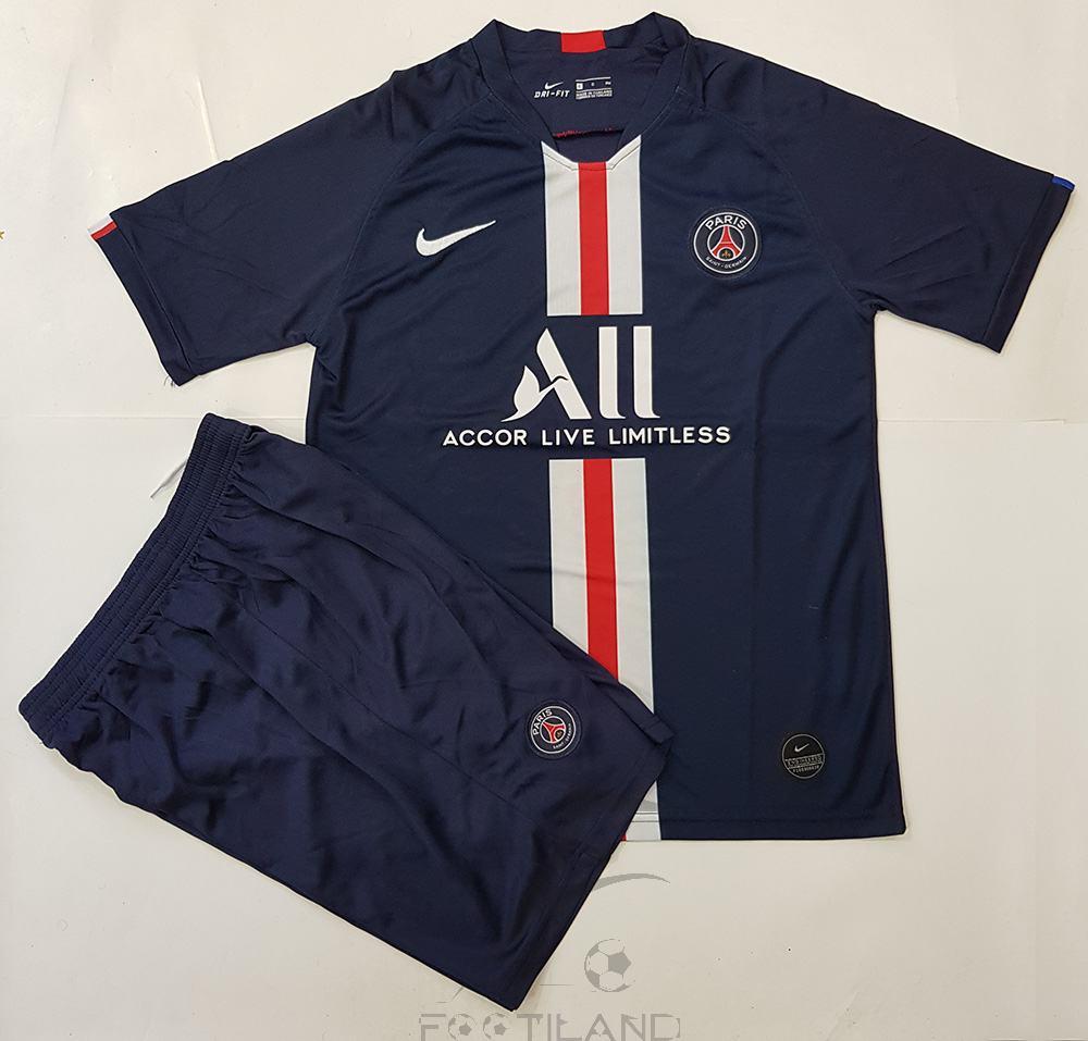پیراهن شورت اول پاریس 2020 با زمینه سورمه ای یقه پیراهن هفت بصورت تیشرت آستین کوتاه
