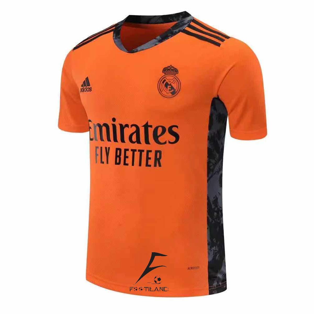 لباس دروازه بانی رئال مادرید 2021 نارنجی