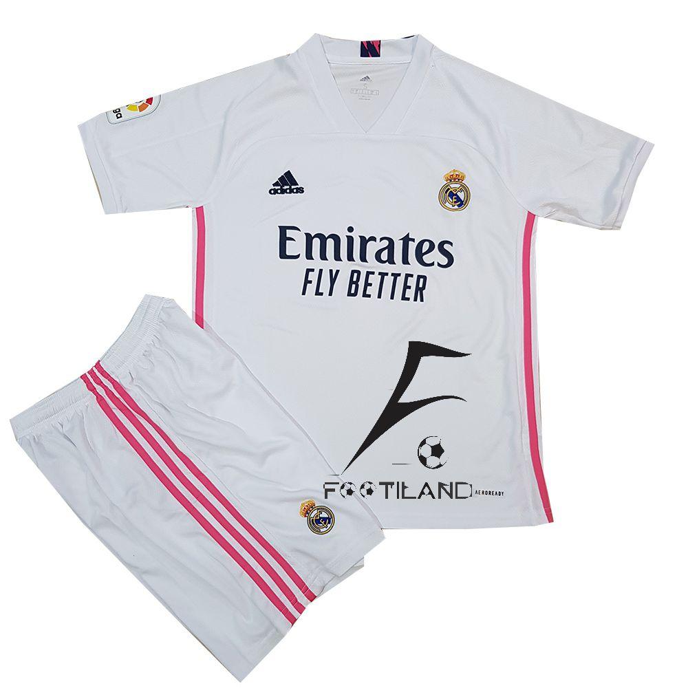 لباس رئال مادرید بچه گانه 2021 به رنگ سفید