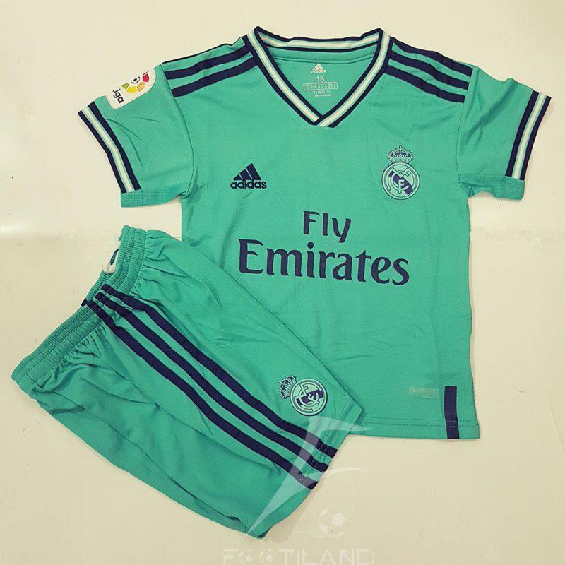 دست لباس پیراهن شورت بچه گانه سوم رئال مادرید پسرانه