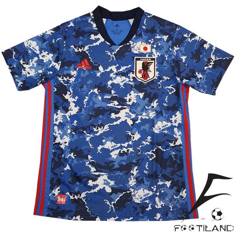 لباس ژاپن 2020 با رنگ آبی و طر های سفید و سرمه ای