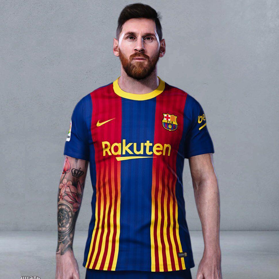 طرح احتمالی لباس چهارم بارسلونا 2021
