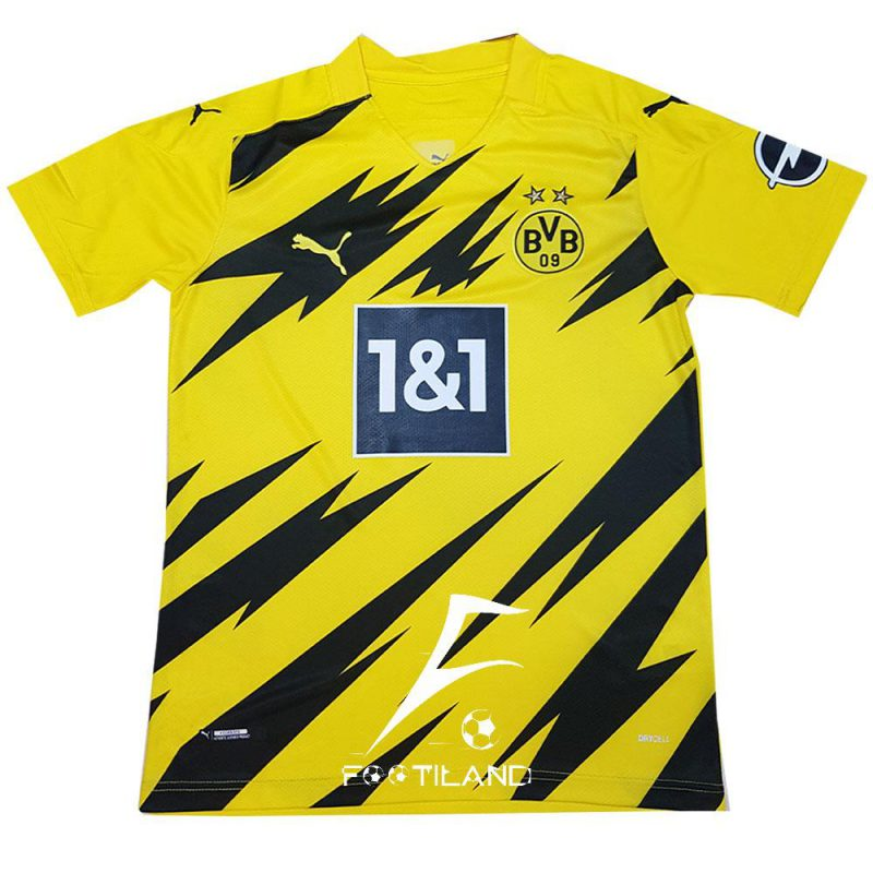 لباس دورتموند 2021 با رنگ زرد و طرح فوق العاده