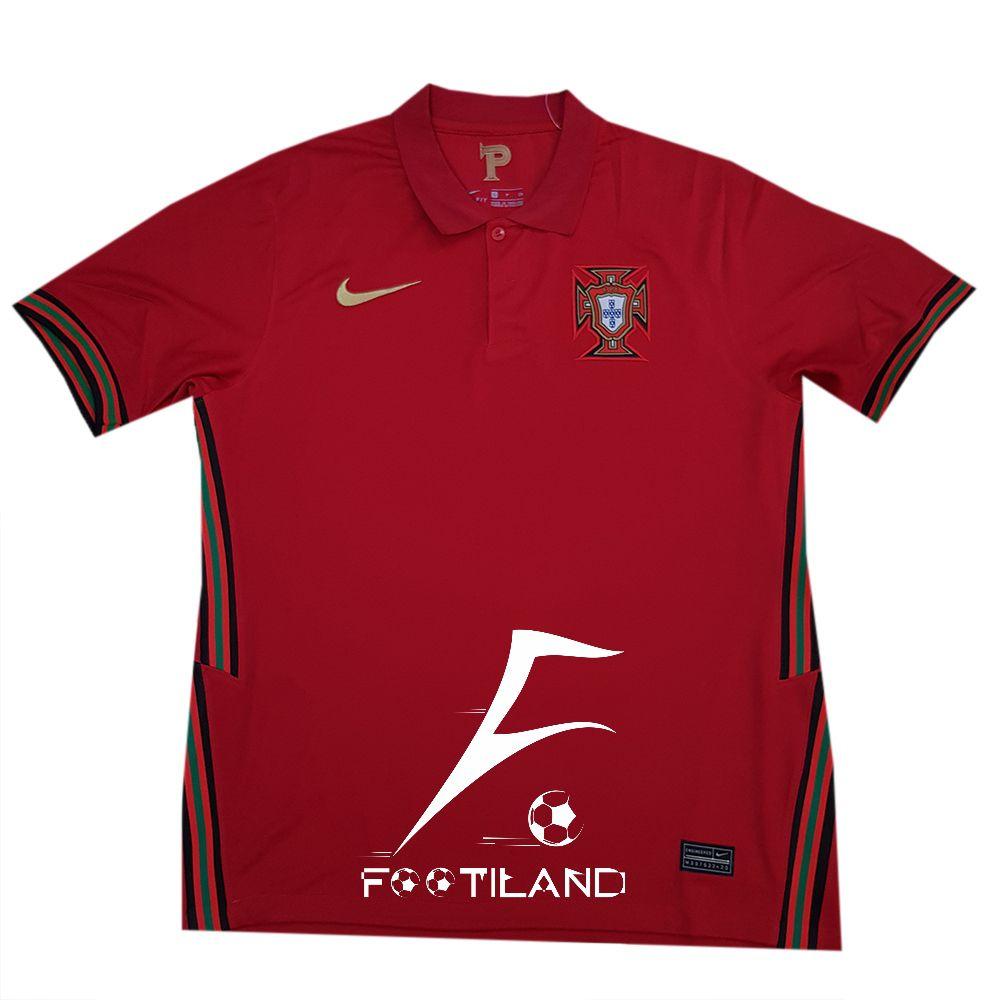 لباس پرتغال 2020 به رنگ قرمز تیره و یقه پولوشرتی